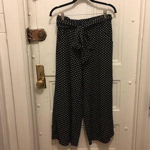 Max Studio Wide leg polka dot pants